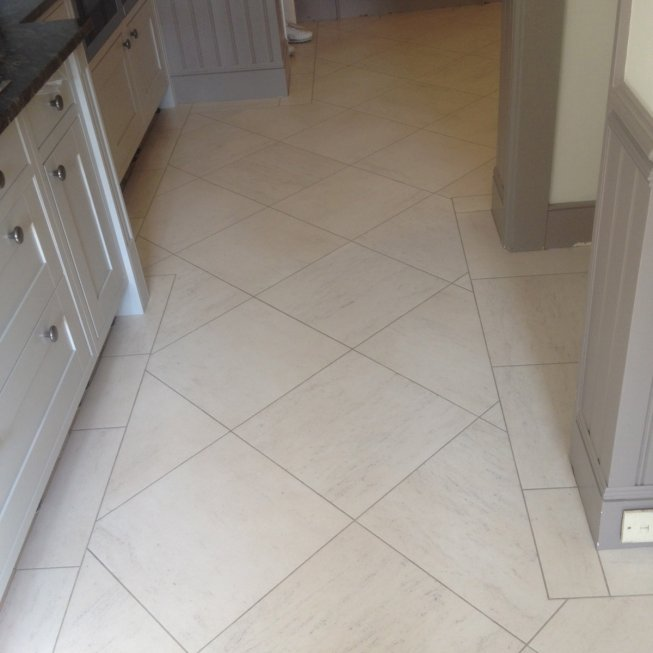 Diagonal Amtico Tile in Kitchen
