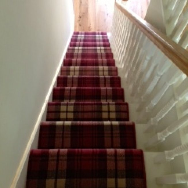 Red and White Checkered Alternative Flooring