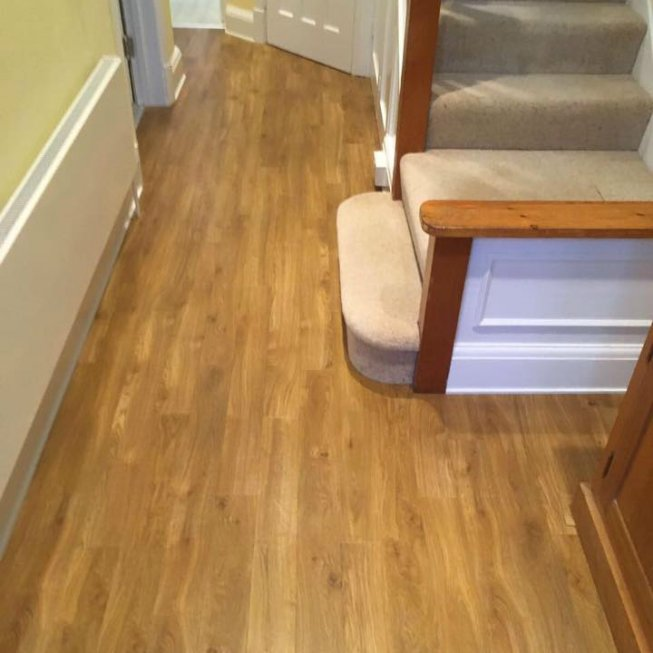 Amtico Spacia Traditional Oak Floor in Hallway