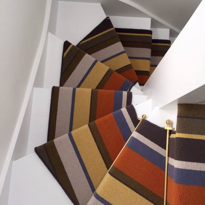 Audrey Sunrise Stripe Stair Runner