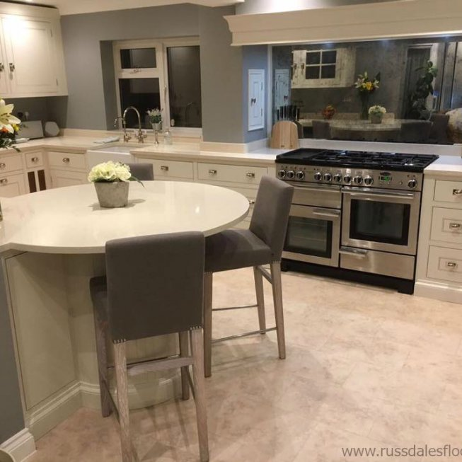 Amtico Spacia Mirabelle Cream Floor in Kitchen