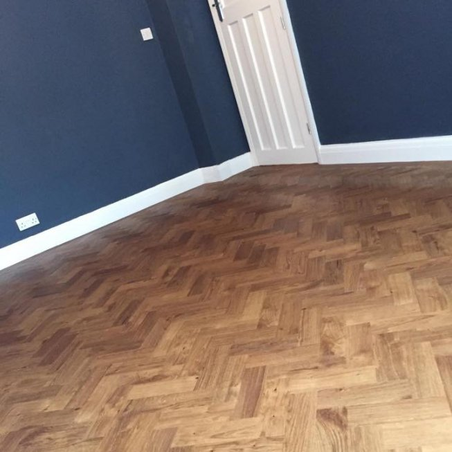 "Amtico Spacia Royal Oak 9×3"" Herringbone Floor"