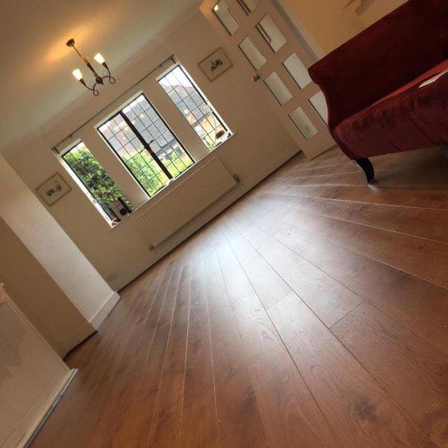 Stained Oak Plank Floor