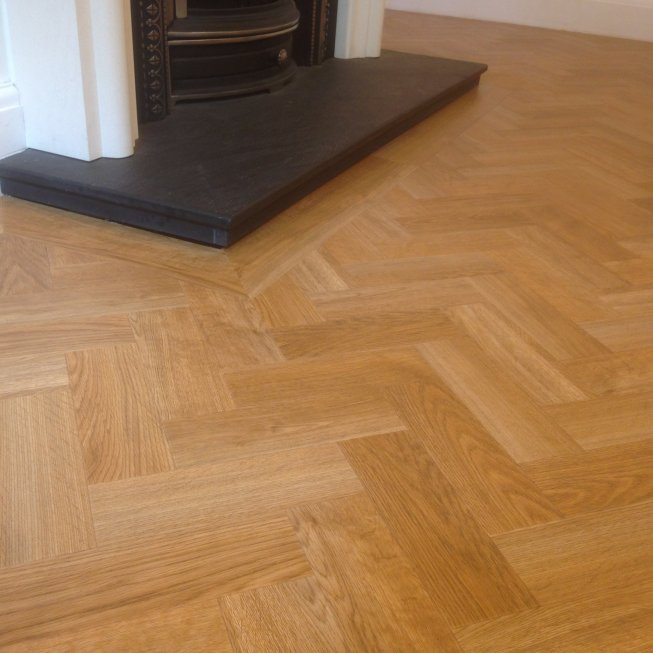 Amtico Herringbone in Living Room