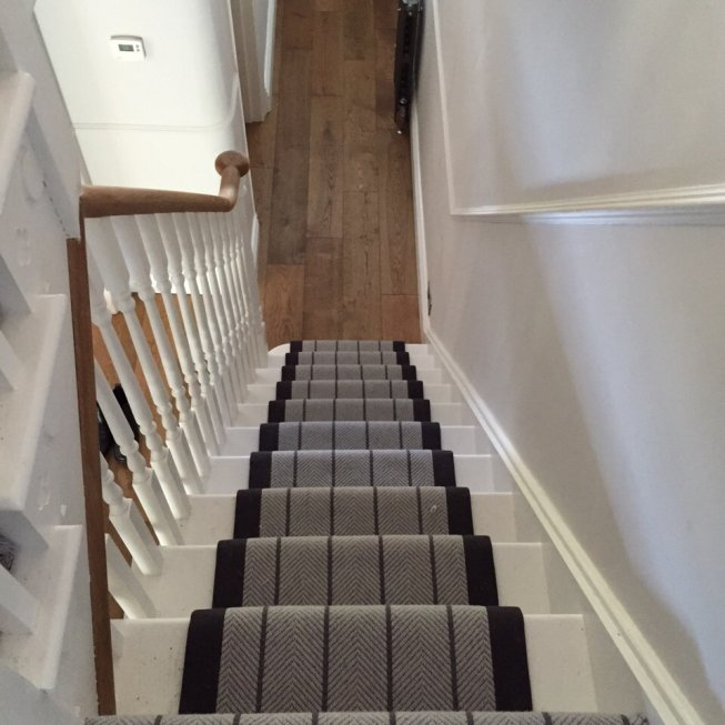 Flat Weave Herringbone Stair Runner