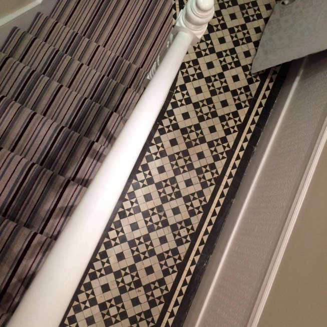 Victoria's Striped Stair Runner
