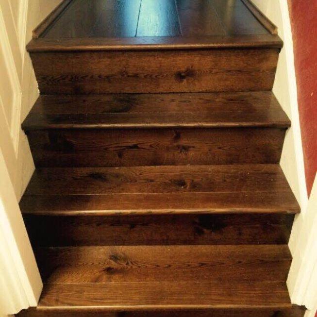 Distressed & Hand Finished Oak Floor