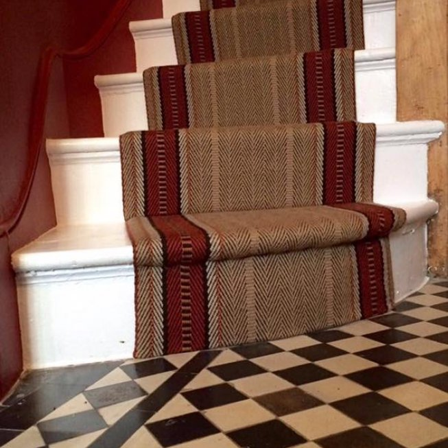 Roger Oates Hampton Biscuit Stair Runner