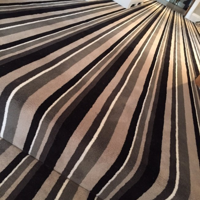 Louis De Poortere Velvet Striped Carpet