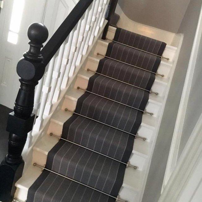 Roger Oates Stair Runner in Dart Pigeon