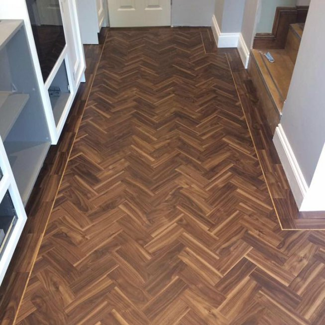 Amtico Signature Wild Walnut 3×9″ Herringbone Floor