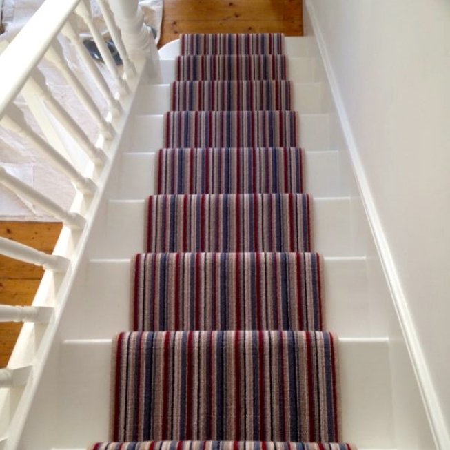 Striped Blue and Red Runner