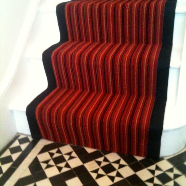 Red Stripe Stair Runner