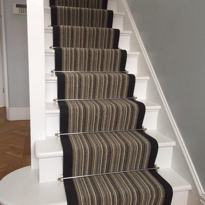 Telenzo Wool Loop Strip Stair Runner