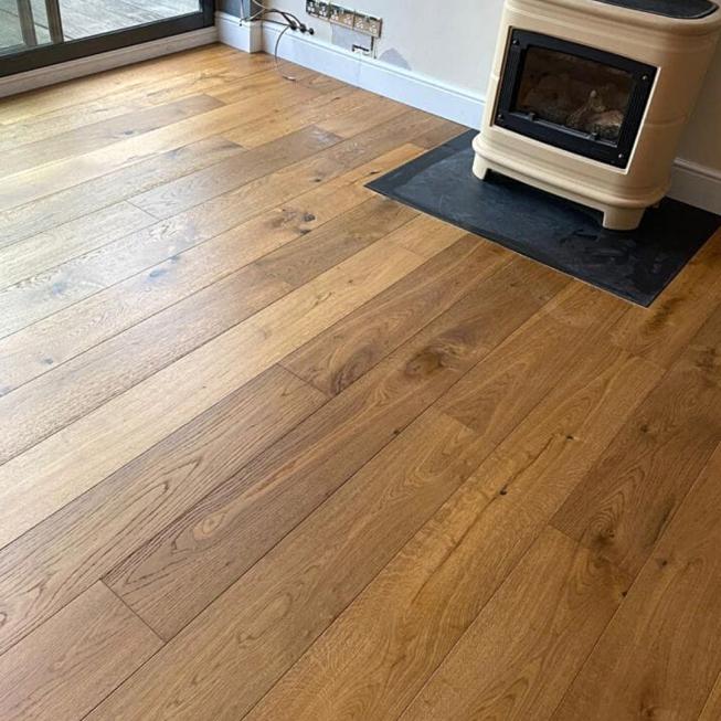 Smoked Oak Wood Floor REF 12042