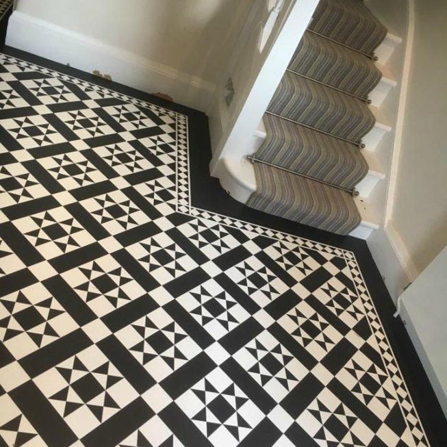 Black And White Karndean Flooring Floor Matttroy