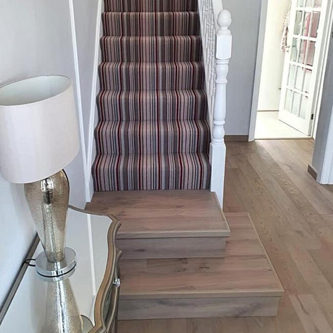 Victoria Carpets Tudor Stripe Stair Runner REF 11993
