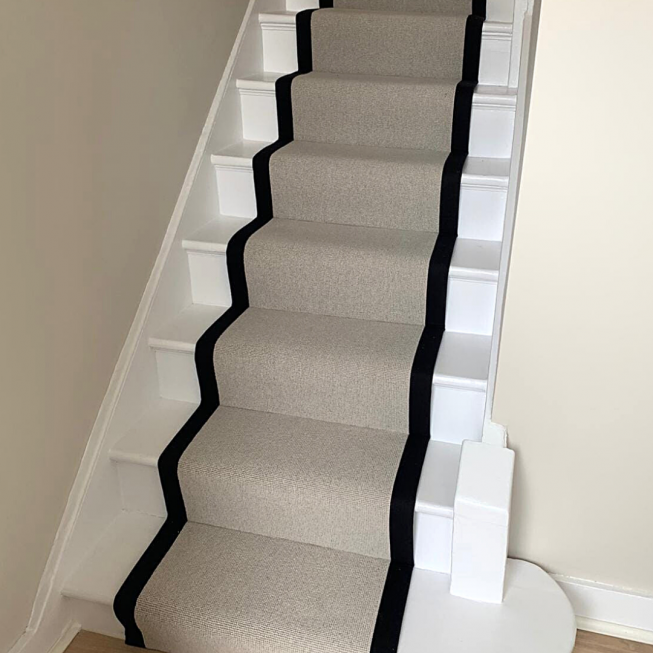Mayfair Loop Stair Runner and Sensation Soft Orchid Room Carpet REF 11983